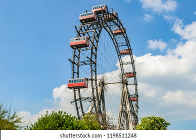 Old Ferris Wheel in the city of Vienna, Austria
