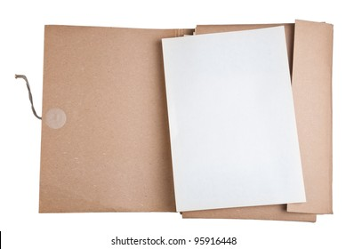 old file with blank paper
