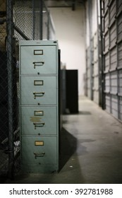 Old File Cabinet in Warehouse