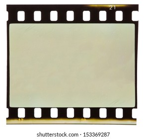 Old film strip isolated on white backgroung