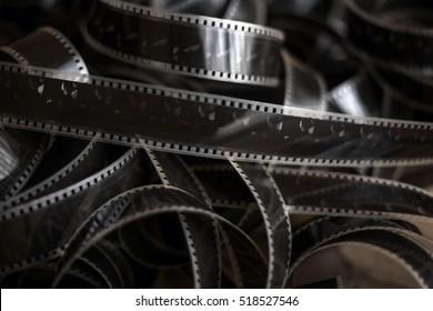 Old film strip on the floor