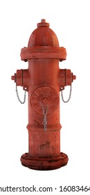 old fire hydrant. Isolated on white. 3D render