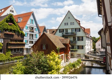 Old fish quarters in Ulm, Germany