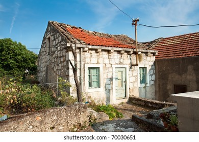 Old fisherman typical house in village Maranovici on Mljet island, Croatia