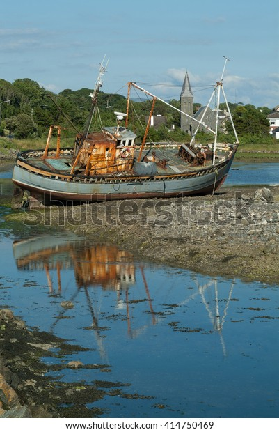 Old Fishing Boat Co Sligo Ireland Stock Photo (Edit Now
