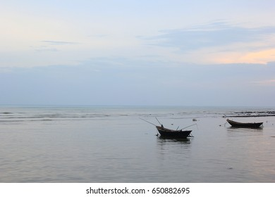 Old fishing boat on the beach
