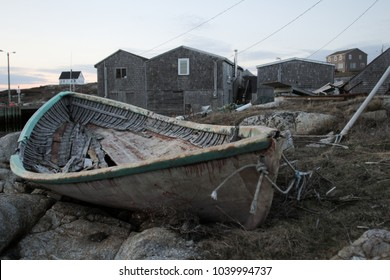 An old fishing boat at Peggy's Cove, Nova Scotia