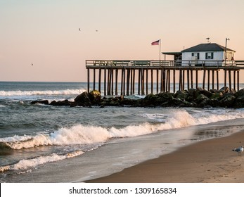The old fishing pier in Ocean Grove New Jersey destroyed by Hurricane Sandy in 2012.