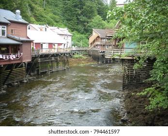 old fishing town in Sitka Alaska