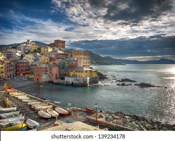 The old fishing village of Boccadasse Genoa