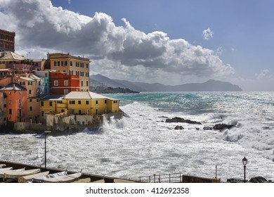 old fishing village of Boccadasse Genoa