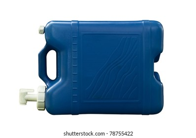 old five gallon water jug with clipping path at original size