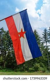 Old flag of former Yugoslavia