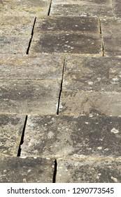 Old flagstone pavement pattern