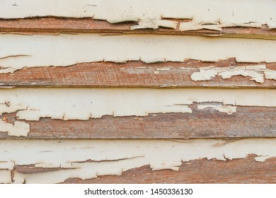old flaky, peeling painted weatherboards background