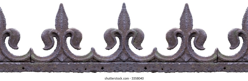 """old """"fleur de lys"""" fence ornaments. picture has a clipping path and is seamless tileable."""