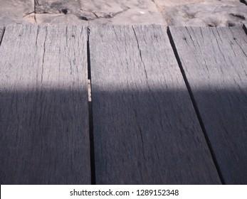 Old floor slat,Wood using old flooring