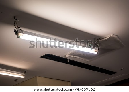 Old Fluorescent Light Bulb Long Fluorescent Stock Photo (Edit Now ...