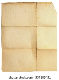 old folded paper background.