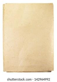 old folder isolated on white background
