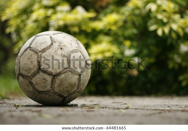 Old Football in the Garden