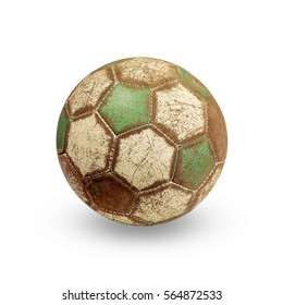 Old Football isolated white background