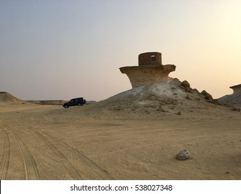 An old fort in the desert of Zekreet near Doha, Qatar