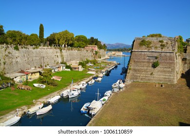 Old Fort of Kerkira, capitol of Corfu island, greece