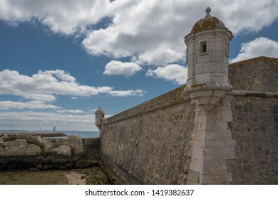 Old fort on the waterfront in Lagos, Portugal.