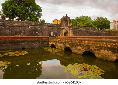 Old Fort Santiago in Intramuros, Manila city, Philippines