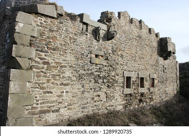 old fortification wall made of hard stones