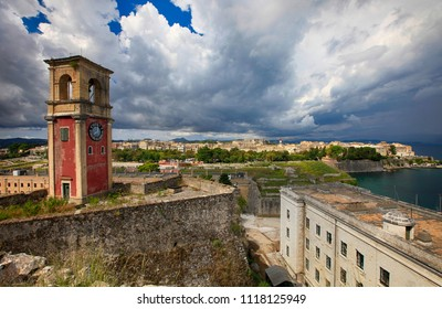 Old fortress in the city of Corfu on the island of Corfu in Greece