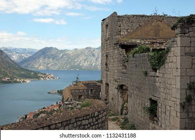old fortress Kotor Montenegro landscape