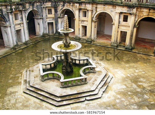 Old Fountain in Convent of Christ, Tomar, Portugal