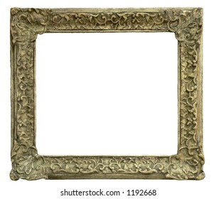 old frame carved in wood