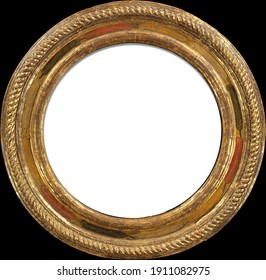 old frame gold decorative round