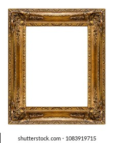 Old frame isolated on white background, including clipping path
