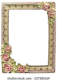 old frame with an ornament with flowers