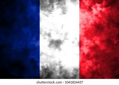 Old France grunge background flag