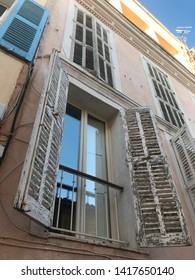 Old franche buildings with oldest streets and franche windows