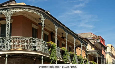 Old French Quarter Buildings with Balcony