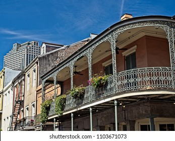 Old French Quarter Buildings with the CBD in Background
