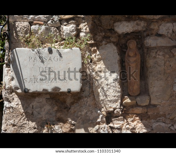old french street sign