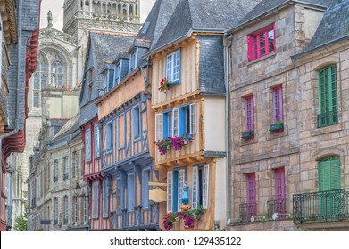 Old french town of Quimper, France