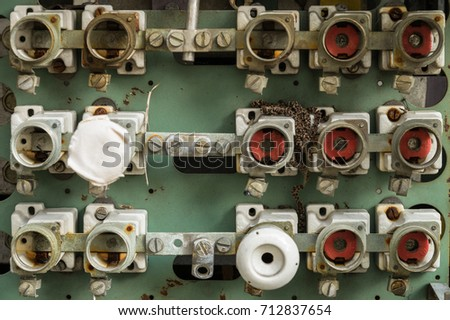 exposed fuse box connector