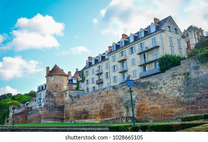 The old Gallo-Roman wall in a le mans