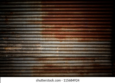 Old galvanized steel