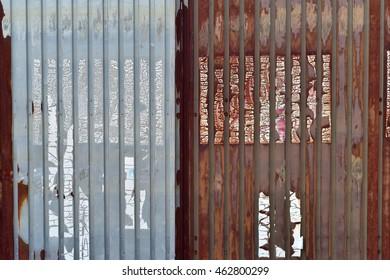 Old galvanized steel rust sheet  full