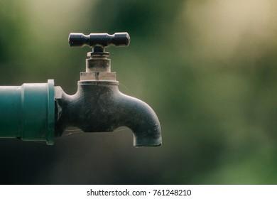 Old garden faucet