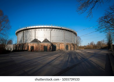 Old gas holder located at Westergasfabriek or West Gas Factory, a former gasworksfactory from the 19th century